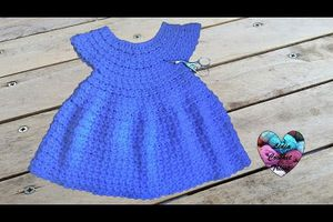 Robe au crochet simple tuto