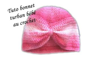 Bonnet turban bébé facile