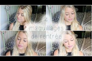 Back to school : 4 maquillage de rentrée