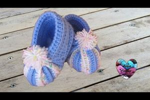 "Chaussons ""citrouille"" au crochet hyper simple"