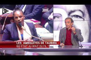 Christiane Taubira déteste le peuple Français selon Zemmour