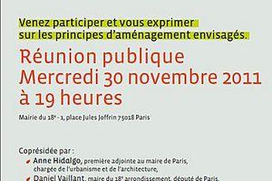"""Réunion publique sur le projet """"Chapelle International"""" mercredi 30 novembre 2011"""