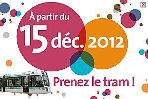 Le Tramway arrive à La Chapelle le 15 décembre 2012