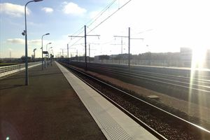 La gare du Futuroscope...