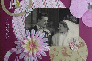 Les mariés 1954
