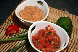 rougail pistache et rougail tomate