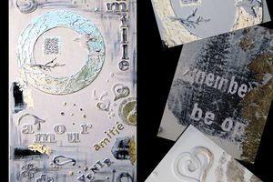 Une remise à l'acrylique et à la feuille d'argent