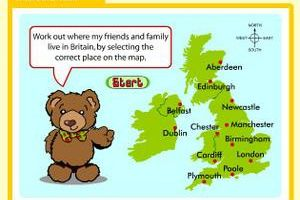 Where in Britain ? (Barnaby bear and his family)