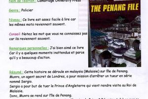 """The Penang file"", a book review by Rémi (6°3)"