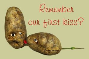 Remember our first kiss ? Happy Valentine's day !