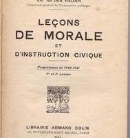 La morale et l'instruction civique à l'école, de 1932 à 2008