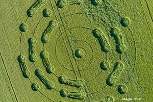 No more war - Un curieux crop circle