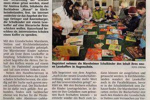 Lesekoffer für die Grundschulen Marnheim und Stetten