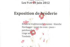 Exposition de broderie à Montmédy