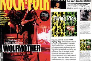 """the Flying Pigs chroniqué par H.M dans Rock and Folk n° 507 novembre 2009 rubrique """"qualité France"""" p.96"""