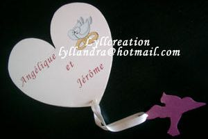 Theme colombe: Faire part mariage