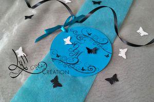 Thème Papillon : Faire part Black Butterfly