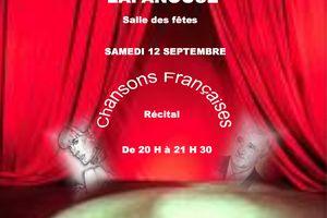 Salle des fêtes Samedi 12 septembre 20 h30 ....