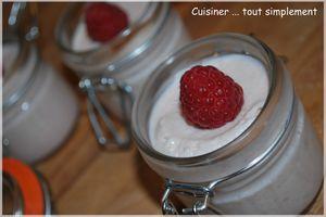 Mousse Famboises - Chocolat Blanc