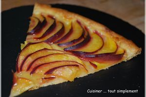 Tarte fine Nectarines - Orange