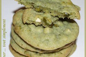 Cookies Pistaches - Chocolat Blanc pour un Gouter Gourmand
