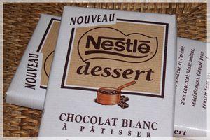 Du Chocolat Patissier BLANC chez Nestlé ...