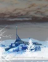 Pompidou bleu d'un matin de novembre ensoleillé