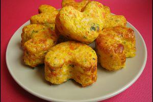 Mini-pains de carottes au surimi