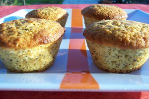 Muffins surprise au citron et graines de pavot