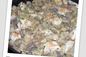 Blanquette de salsifis au poulet