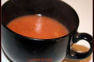 Soupe tomate express