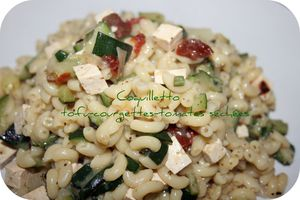 Coquilletto tofu-courgettes-tomates séchées
