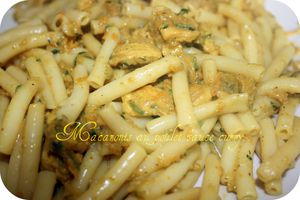 Macaronis au poulet sauce curry