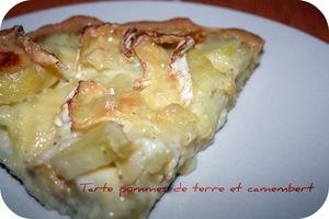Tarte pomme de terre et camembert