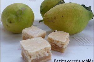 Carrés sablés garnis au citron
