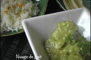 Curry de Porc au Lait de Coco et 1 Menu déjeuner WW
