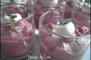 "Verrine de Mousse de Betterave au Chèvre frais+Prix ""I love your Blog"""