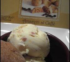 Crème Glacée Amande aux Eclats d'Amarettis Café