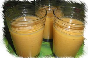 Smoothie melon-banane