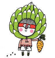 Manger les feuilles d'artichaut à l'envers