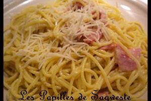 Recette de spaghettis bacon boursin cuisine curry thaï