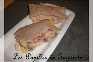 Recette de bricks jambon champignons et boursin cuisine