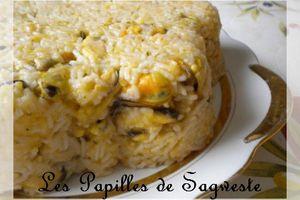 Recette de gâteaux de riz aux moules