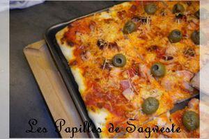 Recette de pizza au jambon de volaille