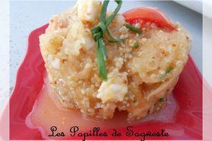 Recette de salade de courge spaghetti quinoa mozzarella