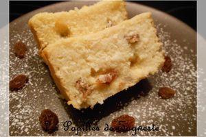 Recette de gâteau de semoule coco rhum raisins