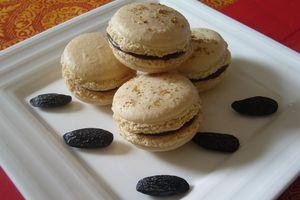 Macarons Chocolat et Fève Tonka