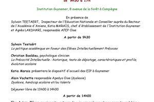 """Journée AFEP - La précocité intellectuelle """"Repérer, comprendre et accompagner"""" - 9 avril 2011"""