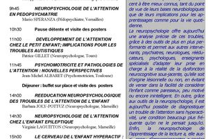 2ème journée scientifique du Résodys - Neuropsychologie des troubles de l'attention - 12 mai 2011
