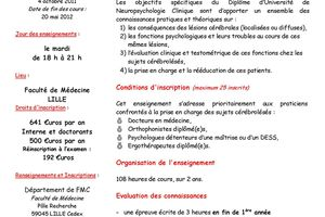 DU - Neuropsychologique clinique